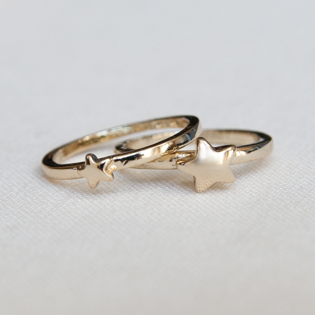 gold star midi rings knuckle rings