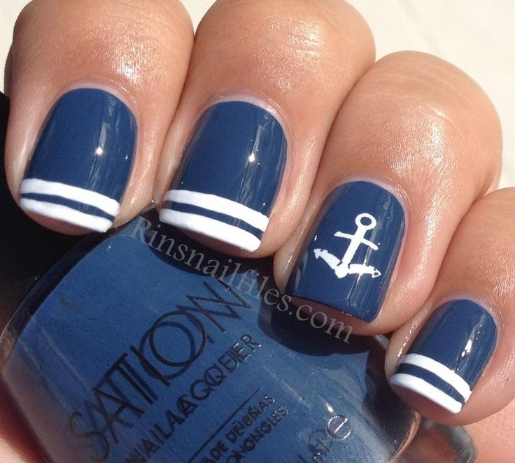nautical navy nail polish