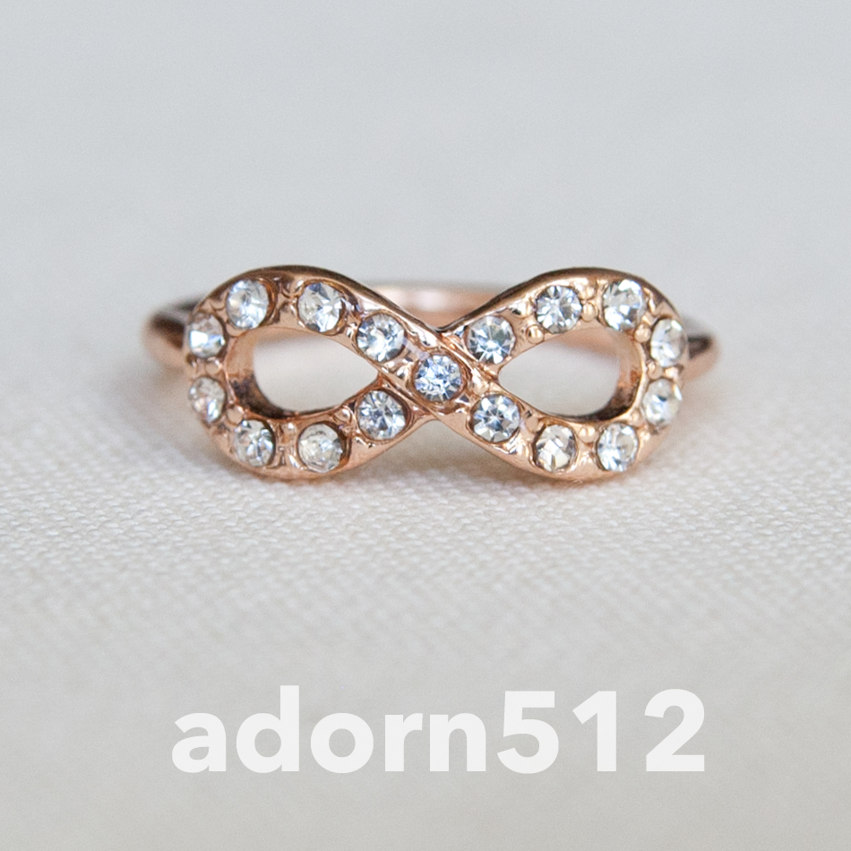 rose gold infinity symbol midi ring