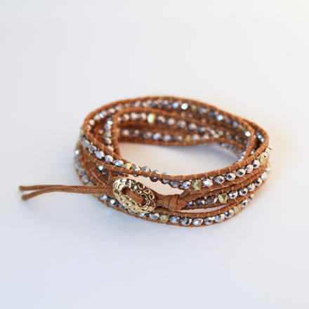 beaded sparkle wrap bracelet